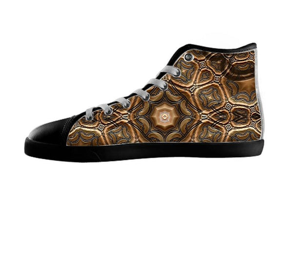 Fractal Steel Tube Earth Tones Chisel Shoes