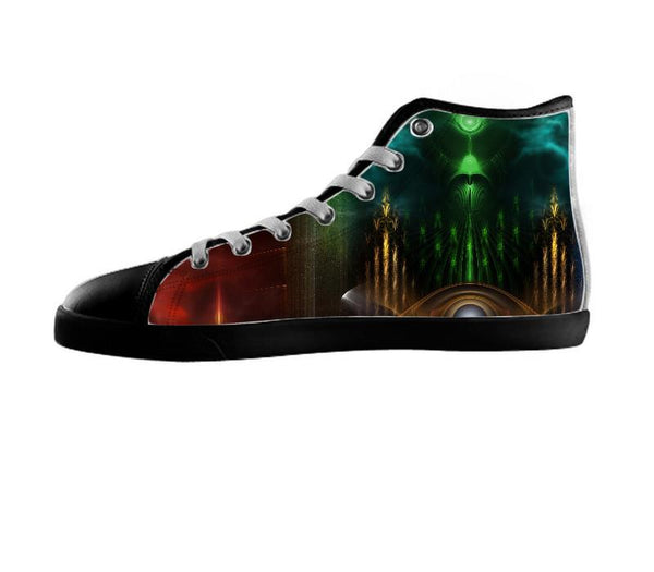 Contemplating Oz Fractal Art Composition Shoes
