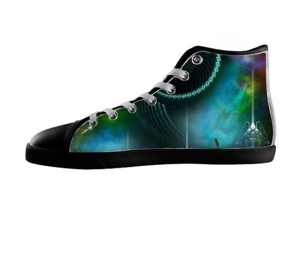 The Flight Of Corbius Fractal Sci-Fi Composition Shoes