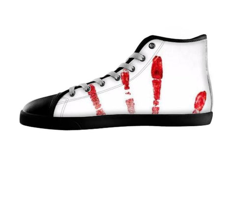 Blood Print Shoes