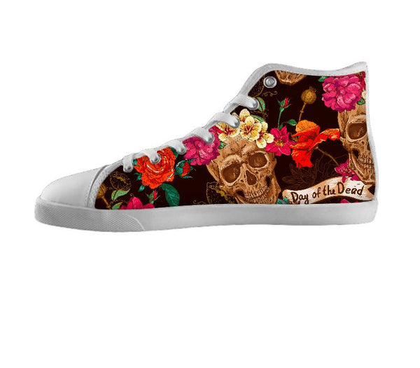 Floral Skull Pattern Shoes
