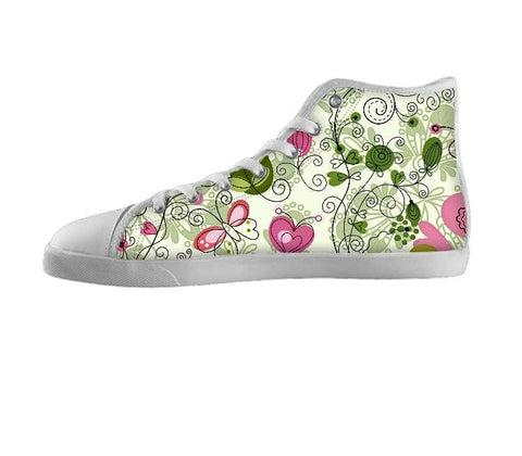 Doodle Flowers and Butterflies Shoes