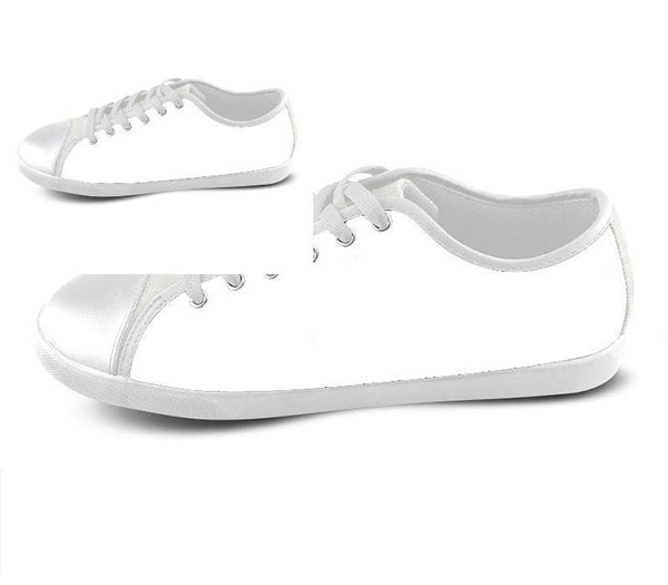 White Custom Low Top Shoes