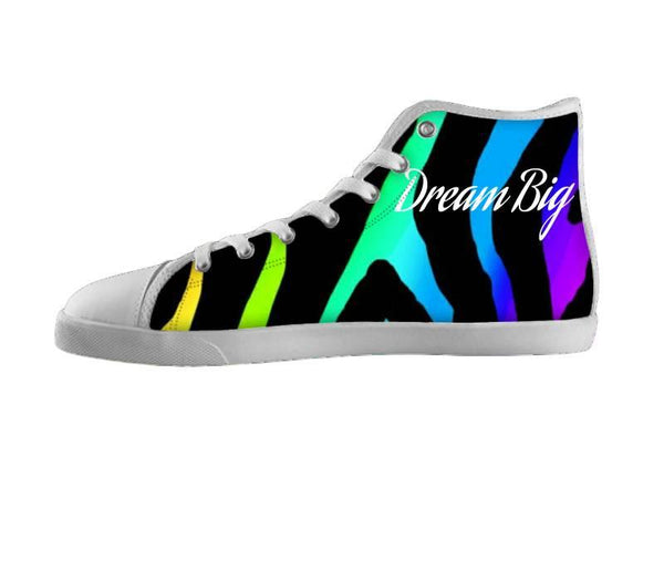 Dream Big Rainbow Zebra Print Shoes