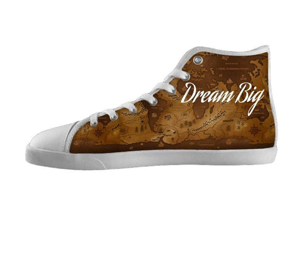 Dream Big World Map Shoes