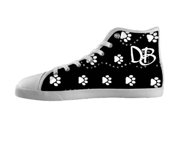 Dream Big Black and White Paw Print Shoes
