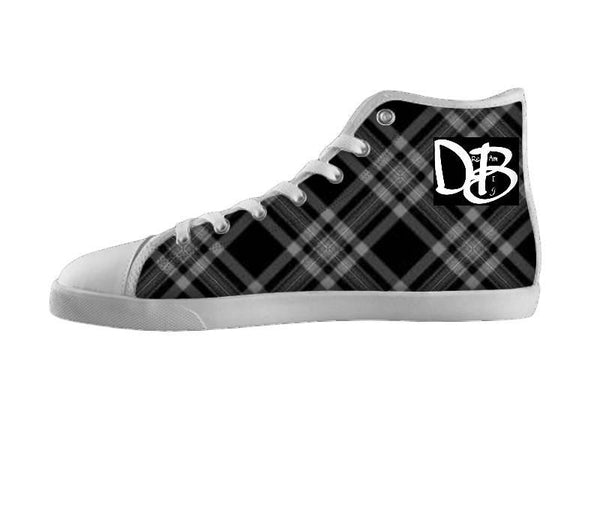 Dream Big Black and White Plaid Shoe