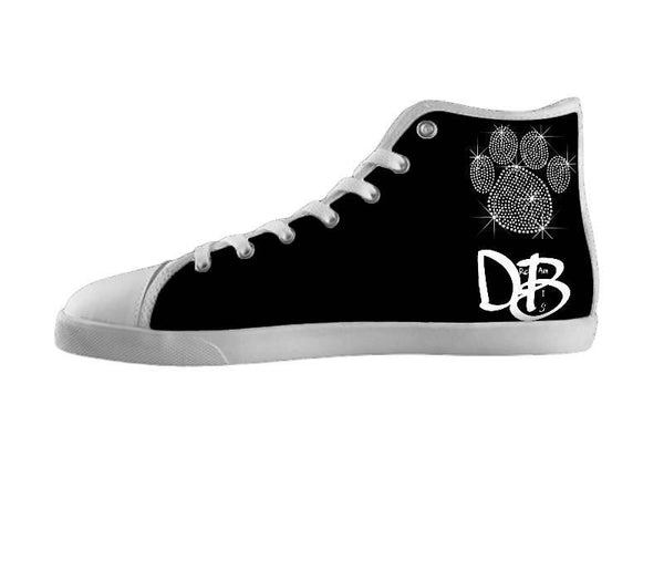 Dream Big Silver Paw Print Shoes