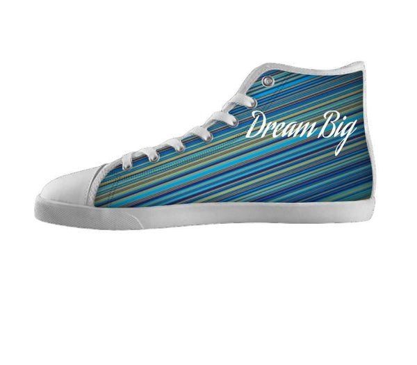 Dream Big Blue Striped Shoes