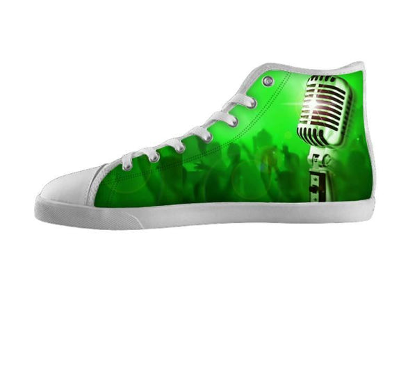 Dream Big Green Old School Mic Shoes