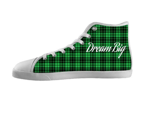 Dream Big Green Plaid Shoes