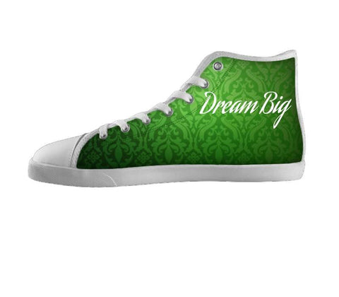 Dream Big Green Pattern Shoes