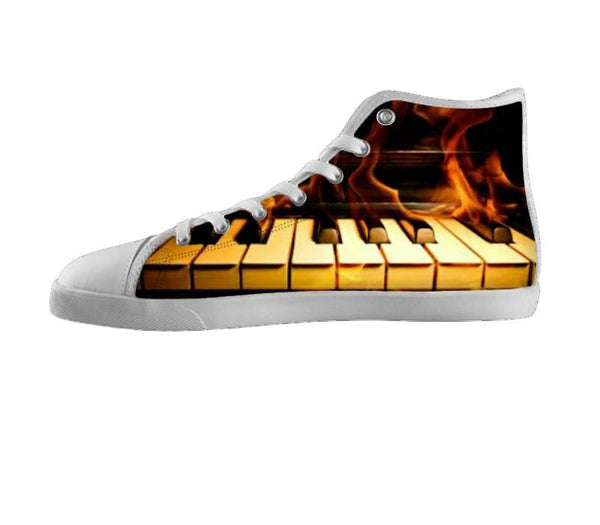 Dream Big Piano Flames Shoes