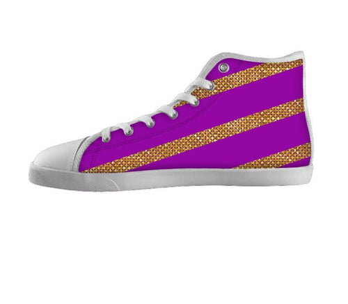 Golden Stripe on Purple