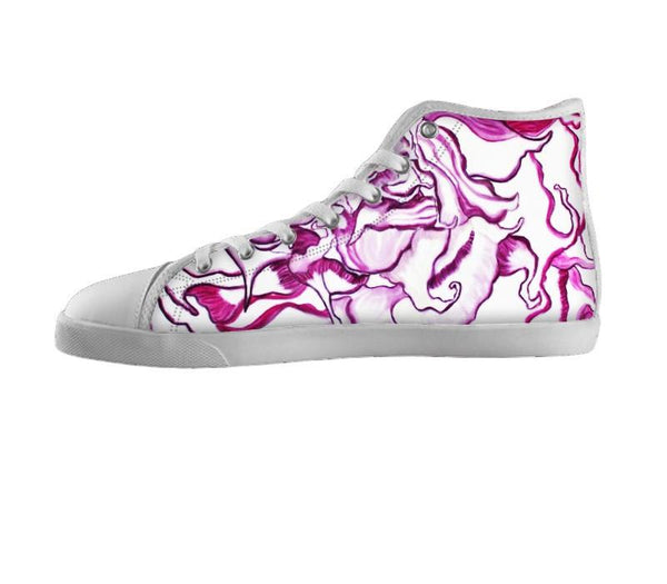 Purple Moon Flower Shoes
