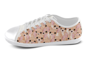 Chihuahua Shoes Women's Low Top / 5 / White, Shoes - spreadlife, SpreadShoes  - 3