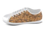Airedale Terrier Shoes Women's Low Top / 5 / White, Shoes - spreadlife, SpreadShoes  - 3