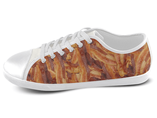 Bacon Low Top Shoes Women's / 5 / White, Low Top Shoes - SpreadShoes, SpreadShoes  - 1