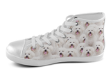 Bichon Frise Shoes Women's High Top / 5 / White, Shoes - spreadlife, SpreadShoes  - 1