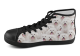 Bichon Frise Shoes Women's High Top / 5 / Black, Shoes - spreadlife, SpreadShoes  - 2