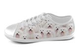Bichon Frise Shoes Women's Low Top / 5 / White, Shoes - spreadlife, SpreadShoes  - 3