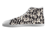 Border Collie Shoes Women's High Top / 5 / White, Shoes - spreadlife, SpreadShoes  - 1