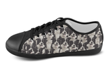 Border Collie Shoes Women's Low Top / 5 / Black, Shoes - spreadlife, SpreadShoes  - 4