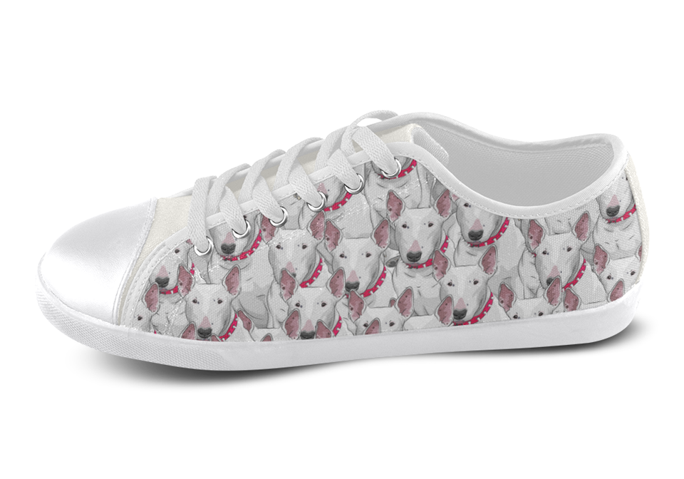 Bull Terrier Shoes Women's Low Top / 5 / White, Shoes - spreadlife, SpreadShoes  - 3