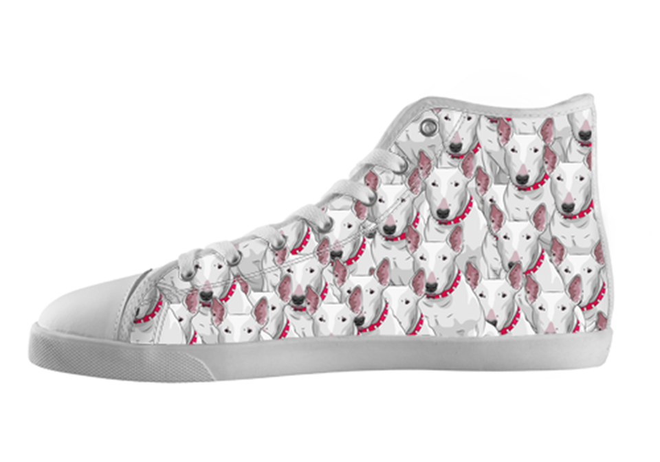 Bull Terrier Shoes Women's High Top / 5 / White, Shoes - spreadlife, SpreadShoes  - 1