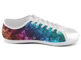 Neon Glow Butterfly Low Top Shoes , Low Top Shoes - SpreadShoes, SpreadShoes  - 2