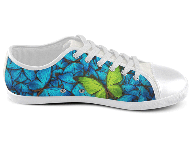 Butterfly Low Top Shoes , Low Top Shoes - SpreadShoes, SpreadShoes  - 2
