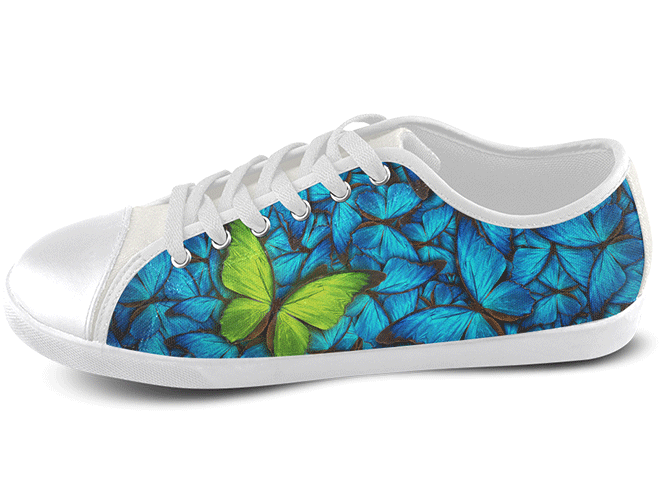 Butterfly Low Top Shoes , Low Top Shoes - SpreadShoes, SpreadShoes  - 1