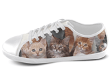Kitten Low Top Shoes Women's / 5 / White, Low Top Shoes - SpreadShoes, SpreadShoes  - 1