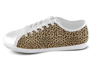 Cheetah Low Top Shoes Women's / 5 / White, Low Top Shoes - SpreadShoes, SpreadShoes  - 1