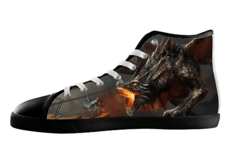 Fiery Dragon Shoes Women's / 5 / Black, Shoes - spreadlife, SpreadShoes  - 1