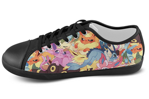 Eeveelution Low Top Shoes Women's / 5 / Black, Low Top Shoes - SpreadShoes, SpreadShoes  - 3