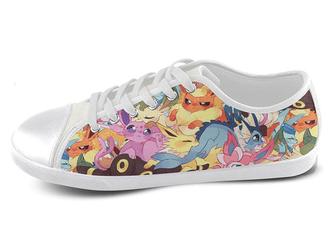 Eeveelution Low Top Shoes Women's / 5 / White, Low Top Shoes - SpreadShoes, SpreadShoes  - 1