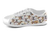 English Bulldog Shoes Women's Low Top / 5 / White, Shoes - spreadlife, SpreadShoes  - 3