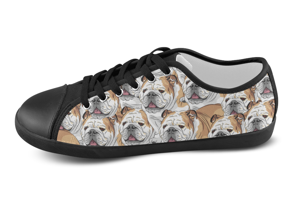 English Bulldog Shoes Women's Low Top / 5 / Black, Shoes - spreadlife, SpreadShoes  - 4