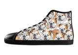 English Bulldog Shoes Women's High Top / 5 / Black, Shoes - spreadlife, SpreadShoes  - 2