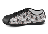 French Bulldog Shoes Women's Low Top / 5 / Black, Shoes - spreadlife, SpreadShoes  - 4