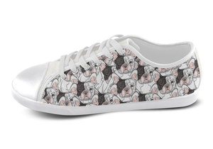 French Bulldog Shoes Women's Low Top / 5 / White, Shoes - spreadlife, SpreadShoes  - 3
