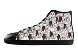 French Bulldog Shoes Women's High Top / 5 / Black, Shoes - spreadlife, SpreadShoes  - 2