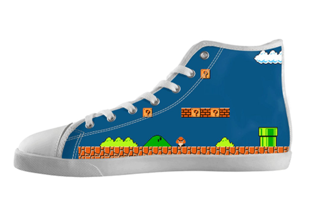 Super Mario Bros Retro Shoes Women's / 5 / White, Unknown - spreadlife, SpreadShoes