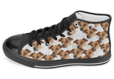 Jack Russell Terrier Shoes Women's High Top / 7.5 / Black, Shoes - spreadlife, SpreadShoes  - 2
