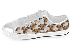 Jack Russell Terrier Shoes Women's Low Top / 7.5 / White, Shoes - spreadlife, SpreadShoes  - 3