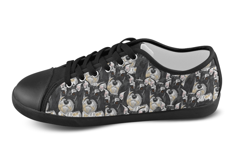 Miniature Schnauzer Shoes Women's Low Top / 5 / Black, Shoes - spreadlife, SpreadShoes  - 4