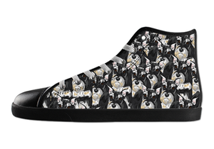 Miniature Schnauzer Shoes Women's High Top / 5 / Black, Shoes - spreadlife, SpreadShoes  - 2