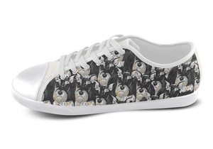 Miniature Schnauzer Shoes Women's Low Top / 5 / White, Shoes - spreadlife, SpreadShoes  - 3