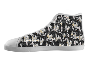 Miniature Schnauzer Shoes Women's High Top / 5 / White, Shoes - spreadlife, SpreadShoes  - 1